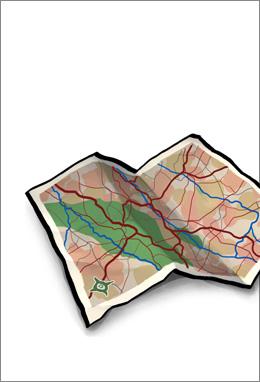 Plans of the ski slopes
