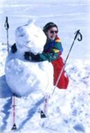 Bonhomme de neige à Gérardmer