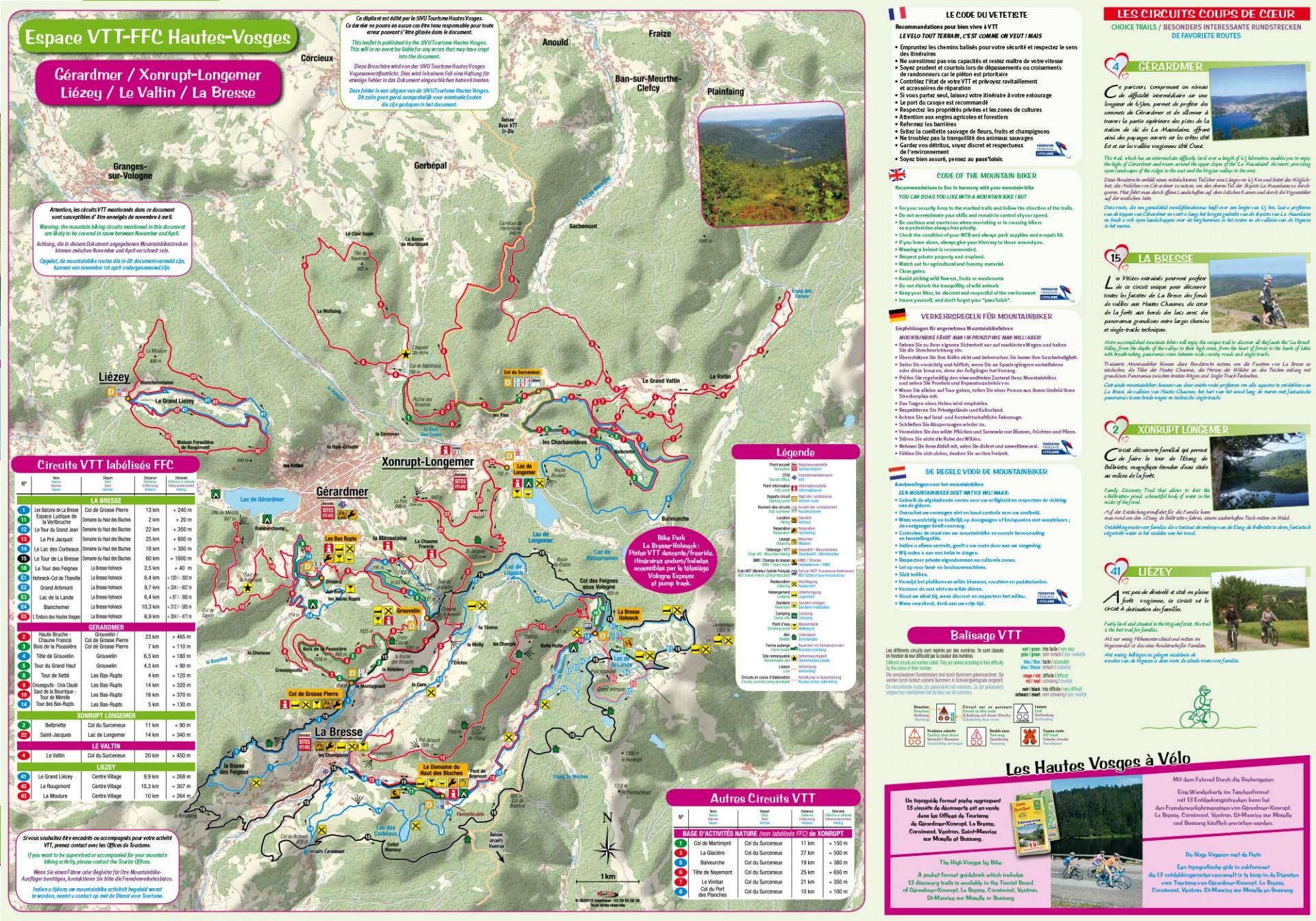 Plan VTT des Hautes Vosges 2