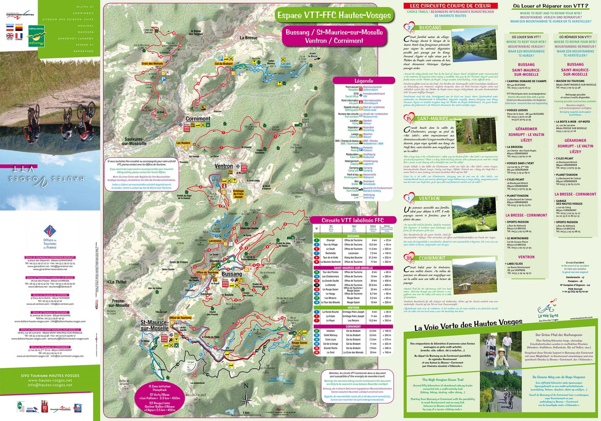 Plan VTT des Hautes Vosges 1