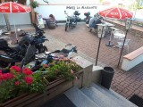 terrasse motard la Marmotte hotel gérardmer hautes vosges