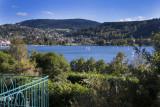 Vue sur le lac depuis Le Manoir au Lac hôtel 4****