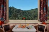 Vue panoramique depuis le restaurant de l'hôtel de La Grande Cascade