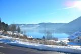 reflets du lac vue hiver hôtel 3 étoiles