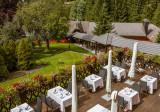 terrasse restaurant aux Jardins de Sophie Xonrupt Vosges
