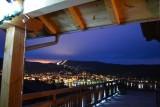 Vue de nuit depuis la chambre d'hôtes Le Chalet des Roches Paîtres Gérardmer Vosges