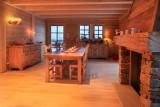 Salle à manger de la maison d'hôtes Chalet des Roches Paîtres