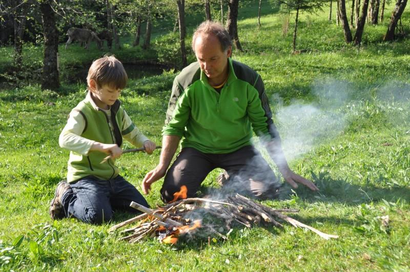 Balades familiales à petit prix Dans la peau d'un trappeur La Bresse Hautes-Vosges